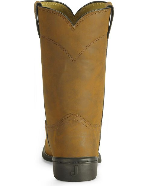 """Justin Men's 10"""" Roper Boots, Bay Apache, hi-res"""