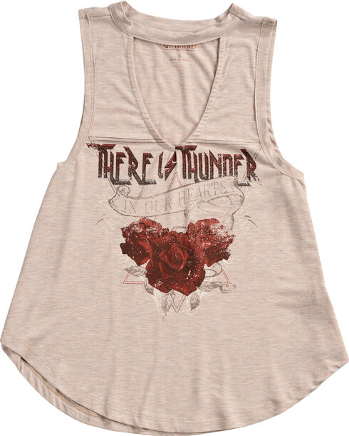 Shyanne® Women's Thunder Roses Choker Graphic Tank , Oatmeal, hi-res