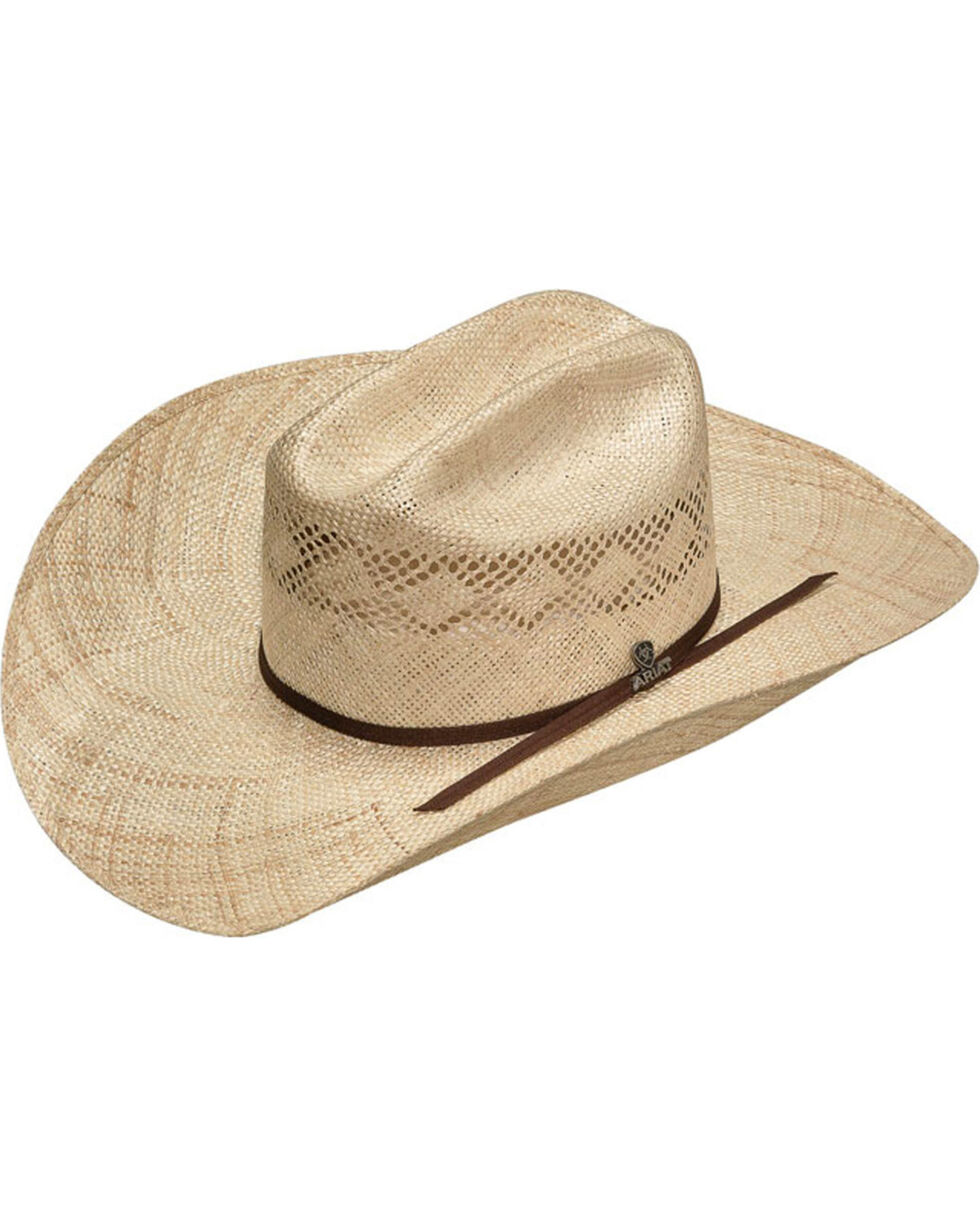 Ariat Men's Twisted Weave Straw Hat, Natural, hi-res