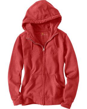 Carhartt Women's Clarksburg Hoodie Jacket, Rose, hi-res