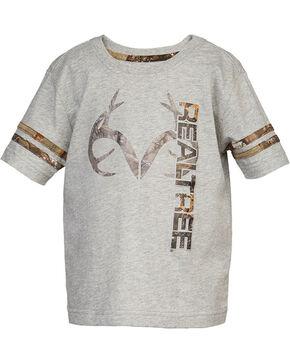 Real Tree® Infant Boy's Logo Short Sleeve Shirt, Grey, hi-res
