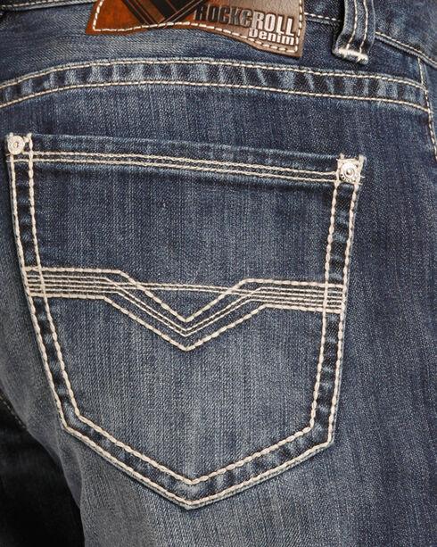 Rock & Roll Cowboy Men's Indigo Reflex Double Barrel Jeans - Straight Leg , Indigo, hi-res