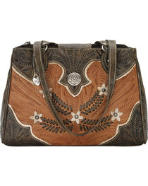American West Women's Desert Wildflower Multi-Compartment Tote, , hi-res