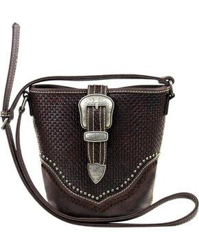 Montana West Trinity Ranch Coffee Basket Weave Handbag , Taupe, hi-res
