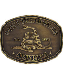 Montana Silversmiths Men's Don't Tread on Me Attitude Buckle, , hi-res