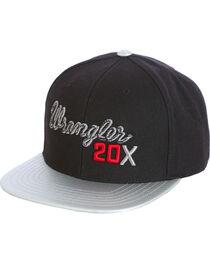 Wrangler Men's Black 20X Flat Bill Baseball Cap , , hi-res