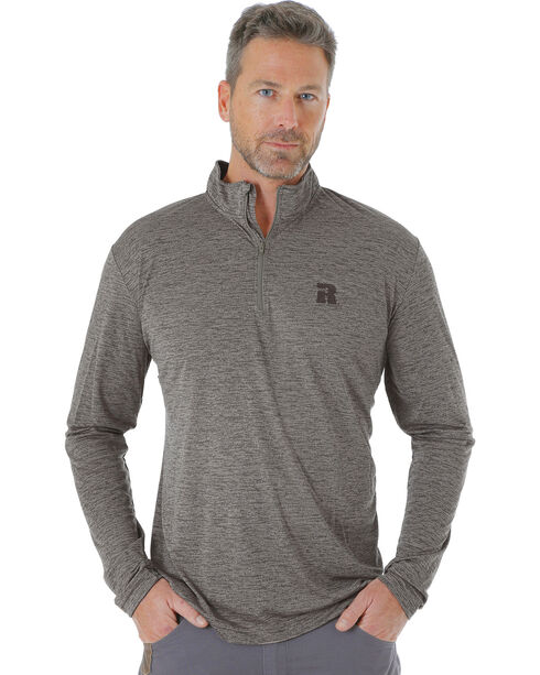 Wrangler Men's Tan RIGGS WORKWEAR® 1/4 Zip Pullover - Big and Tall, Tan, hi-res