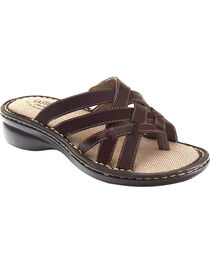 Eastland Women's Brown Lila Thong Sandals , , hi-res