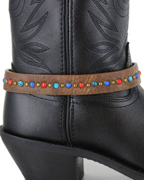 Shyanne® Women's Multi Colored Boot Bracelet, Brown, hi-res