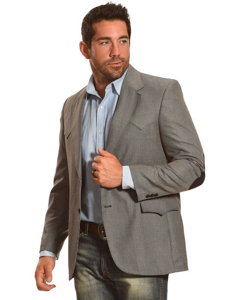Circle S Men's Houston Elbow Patch Sport Coat - Big & Tall, Multi, hi-res