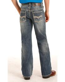 Rock & Roll Cowboy Boys' Indigo (7-20) Regular Fit Jeans - Boot Cut , , hi-res