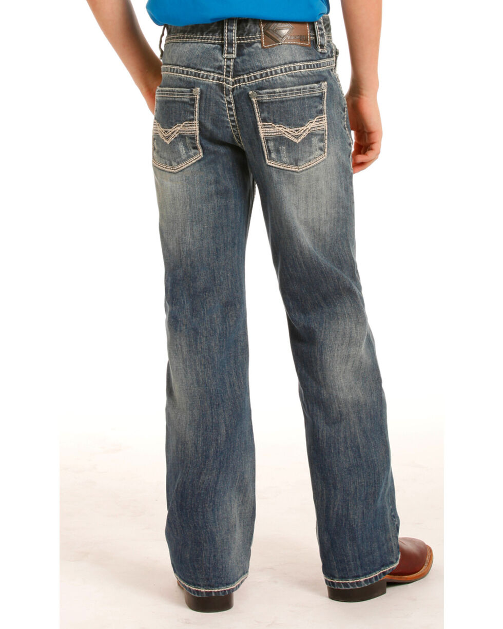 Rock & Roll Cowboy Boys' (7-20) Regular Fit Jeans - Boot Cut , Indigo, hi-res