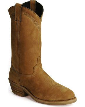 "Abilene Men's 12"" Safety Toe Western Work Boots, Dirty Brn, hi-res"