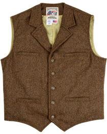 Schaefer Outfitter Men's 707 McClure Chocolate Herringbone Merino Wool Vest - Tall, Chocolate, hi-res