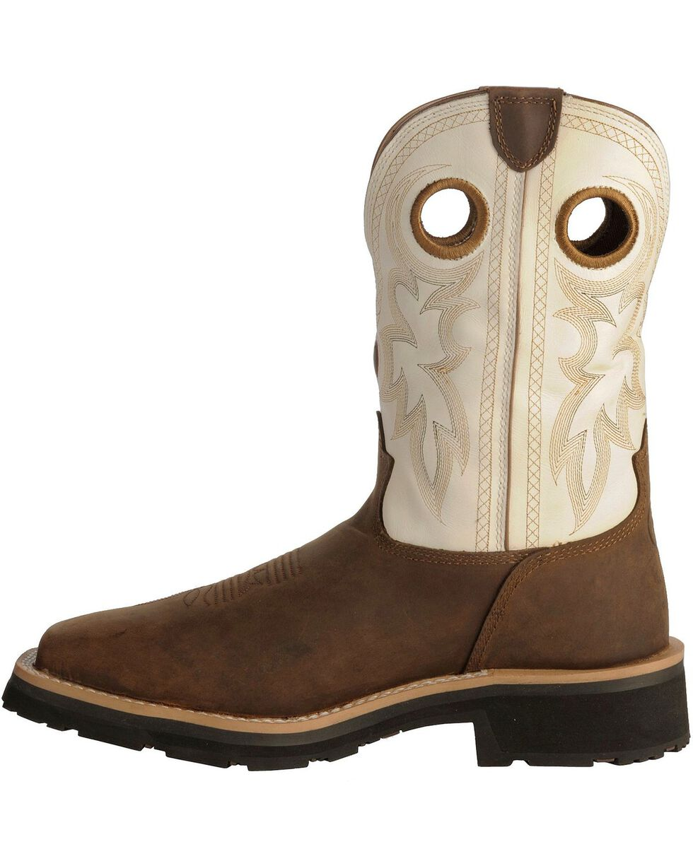 Tony Lama 3R White Waterproof Cheyenne Chaparral Boots - Comp Toe, Bark, hi-res