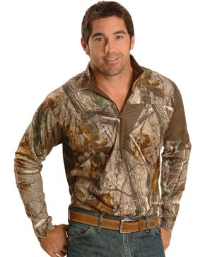 Rocky Scent IQ Performance Zip-up Shirt, Brown, hi-res