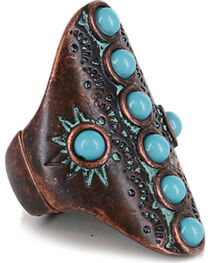 Shyanne® Women's Wide Turquoise Stretch Ring, , hi-res
