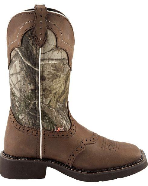 Justin Women's Gypsy Mossy Oak Western Boots, Aged Bark, hi-res