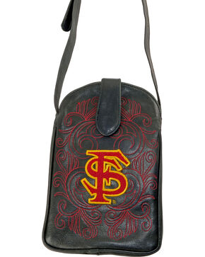 Gameday Boots Florida State University Crossbody Bag, Black, hi-res