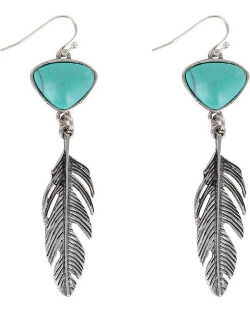 Shyanne® Women's Feather Earrings, Silver, hi-res
