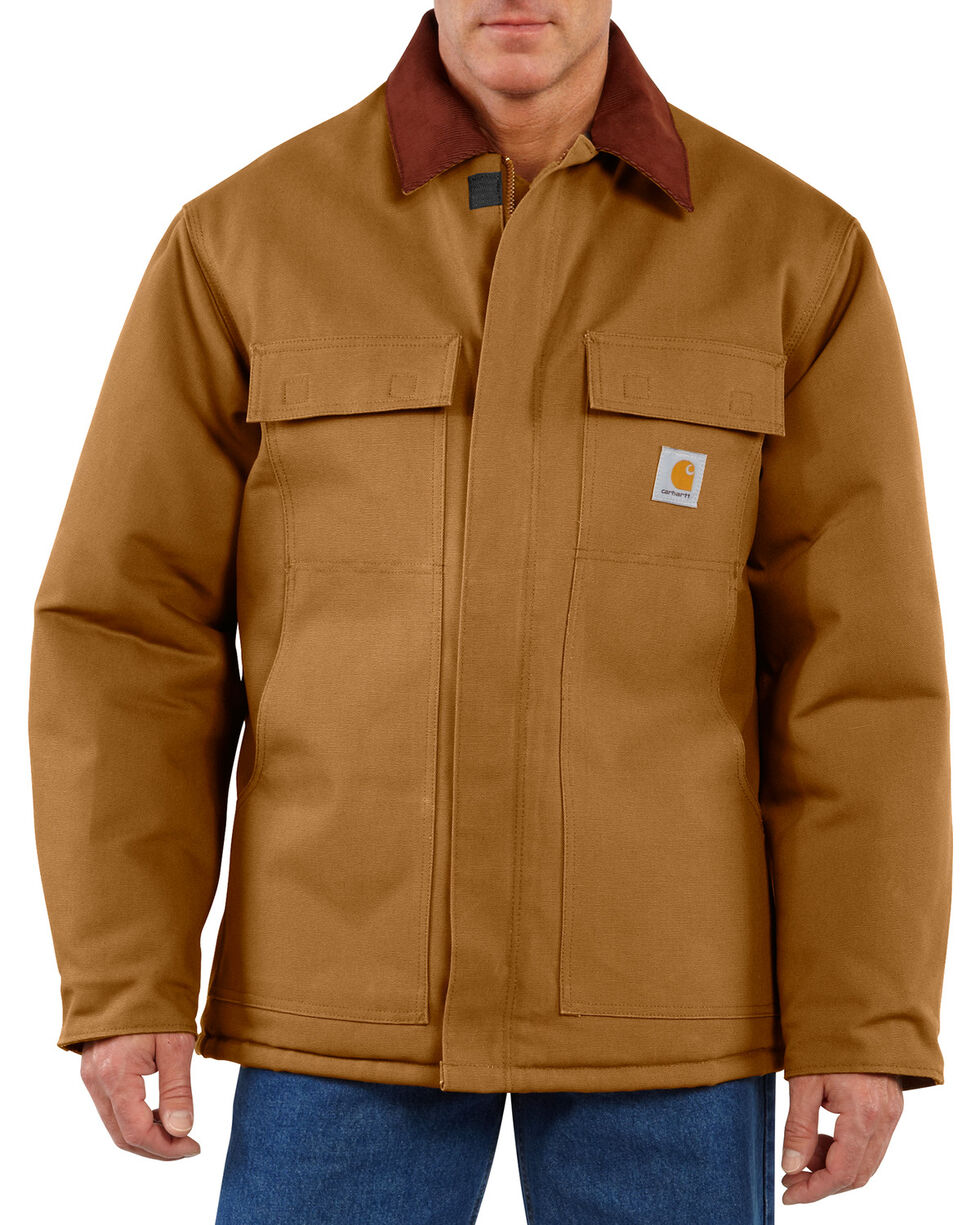 Carhartt Men's Duck Traditional Arctic Quilt Lined Coat, Carhartt Brown, hi-res