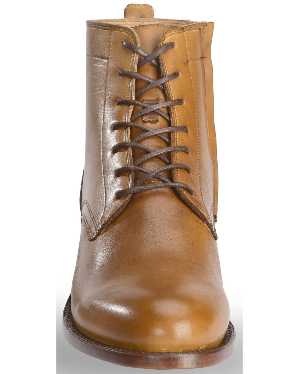 El Dorado Men's Handmade Tan Leather Urban Lacer Boots - Round Toe, Tan, hi-res