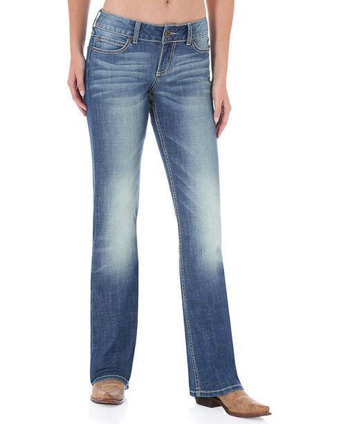 Wrangler Women's Mae Premium Patch Jeans, Blue, hi-res