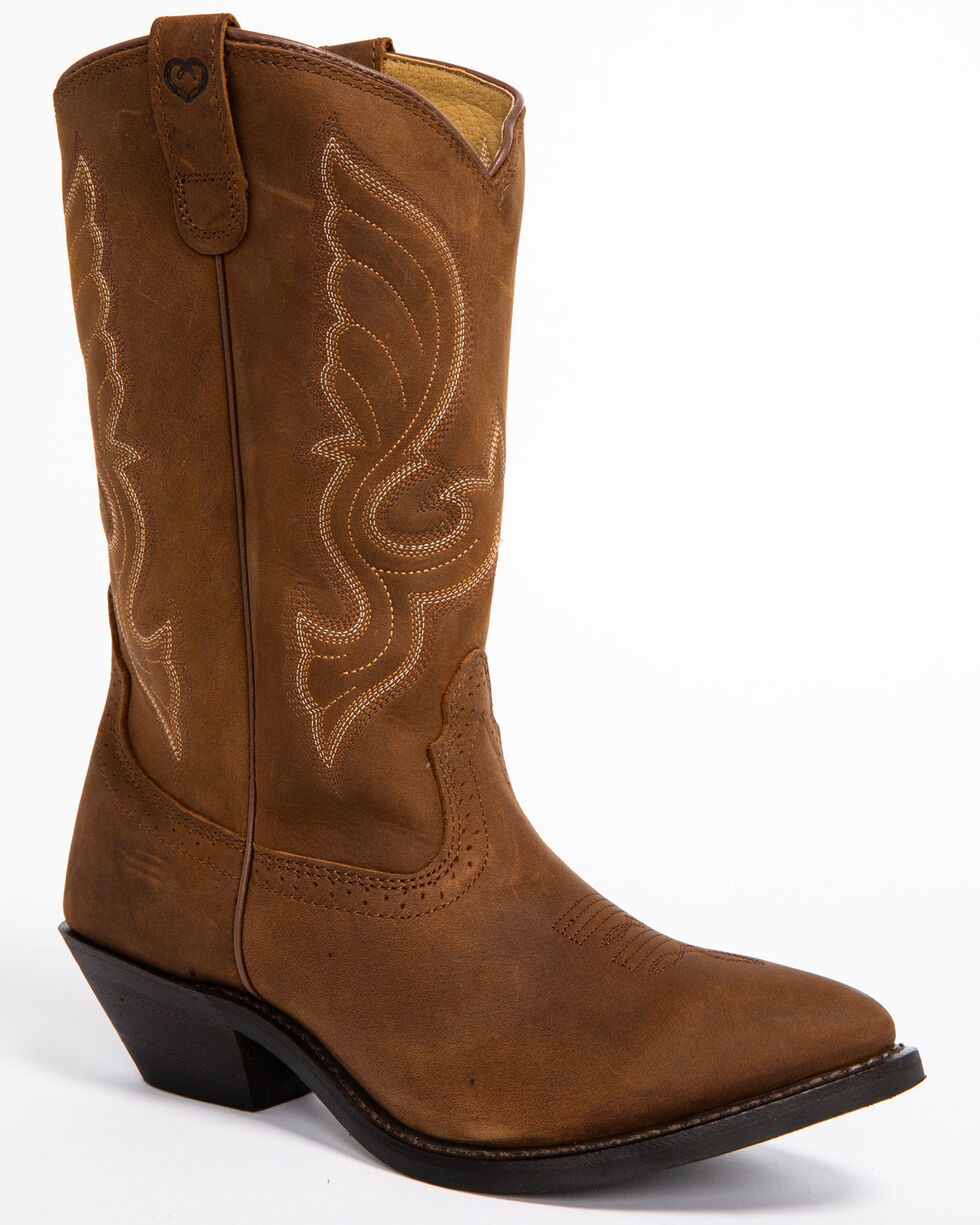 "Shyanne® Women's 11"" Roper Toe Western Boots, Brown, hi-res"
