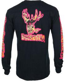 BuckedUp Men's Black Camo with Pink Outline Tee - Big, , hi-res