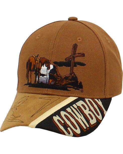 Twister Cowboy Prayer Cap, Tan, hi-res