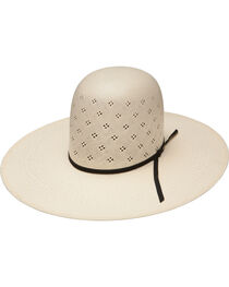 Resistol Men's Tuff-Anuff Conley Open Crown 20X Straw Hat, Natural, hi-res
