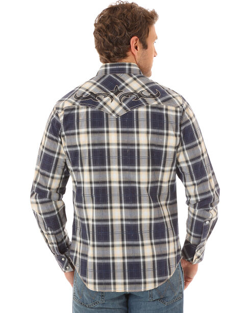 Wrangler Rock 47 Men's Embroidered Long Sleeve Snap Shirt, Multi, hi-res