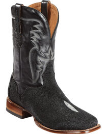 El Dorado Men's Stingray Stockman Boots - Square Toe, , hi-res