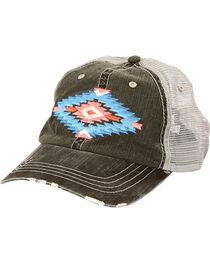 Shyanne Women's Aztec Mesh Back Baseball Cap, , hi-res