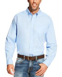 Ariat Men's Light Blue Wrinkle Free Button Up Shirt , , hi-res