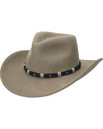 Black Creek Men's Putty Crushable Wool Hat, , hi-res