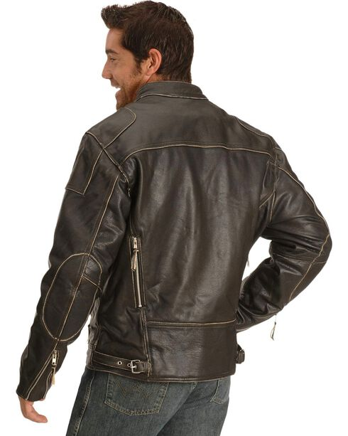 Interstate Leather Men's Gangster Motorcycle Jacket, , hi-res