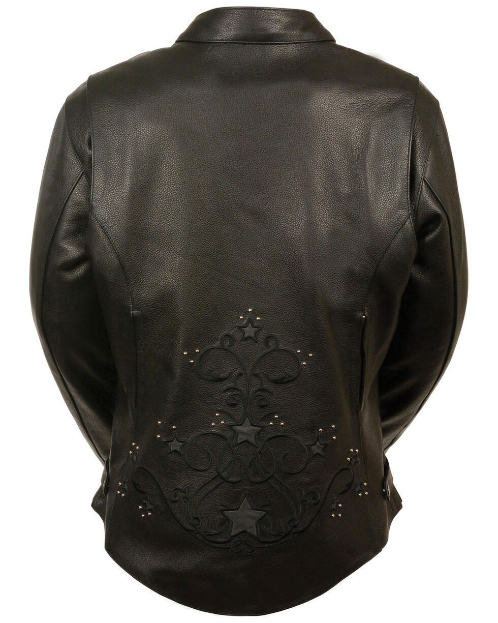 Milwaukee Leather Women's Reflective Star Jacket - 3X, , hi-res