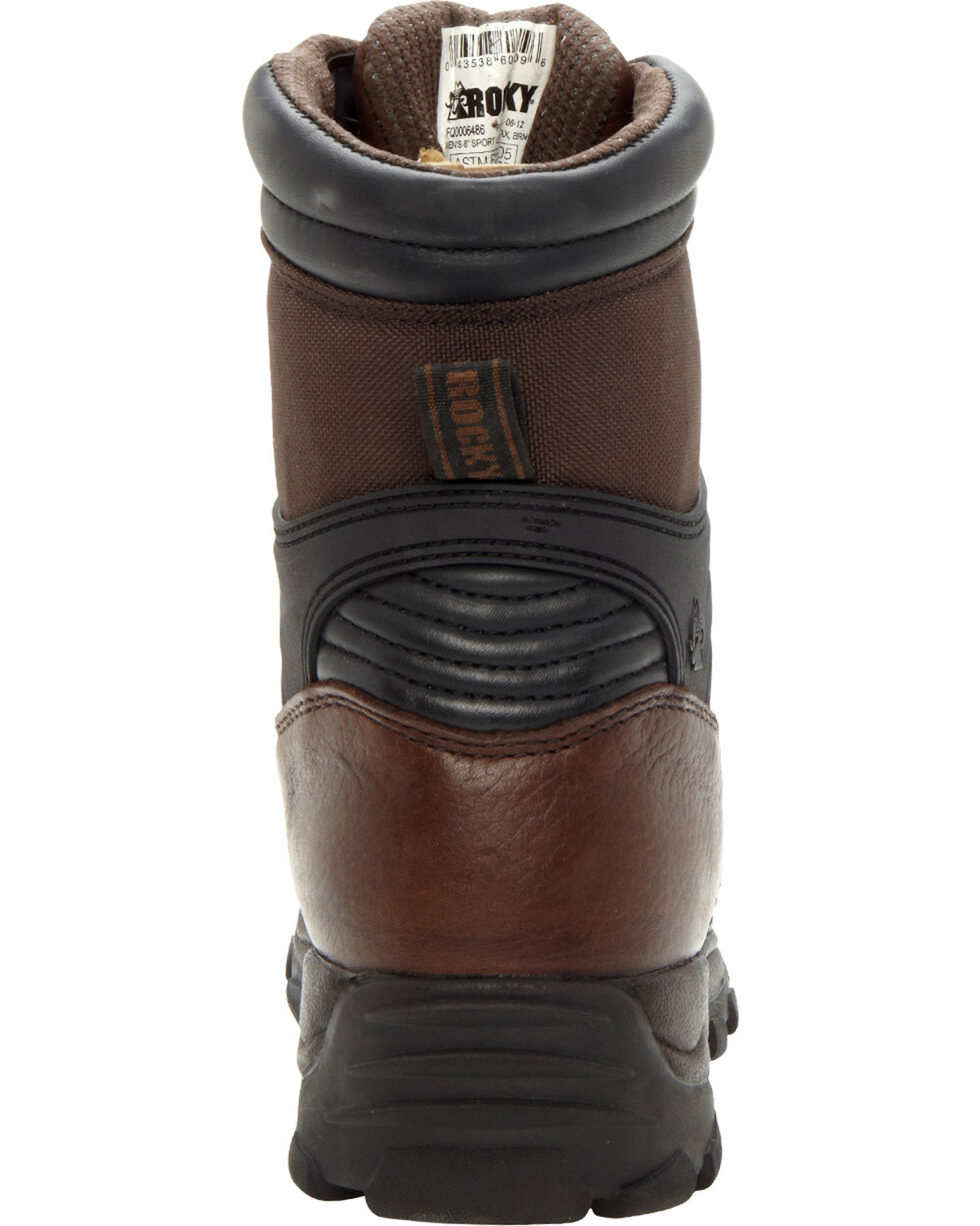 Rocky Men's Rebel Work Boots, Brown, hi-res