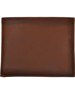 3D Men's Basic Brown with Burnished Edges Bi-Fold Wallet, Brown, hi-res