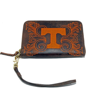 Gameday Boots University of Tennessee Leather Wristlet, Brass, hi-res