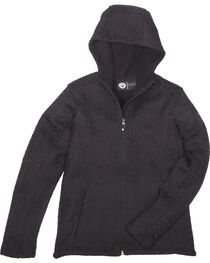 Key Women's Black Cable Knit Jacket, , hi-res