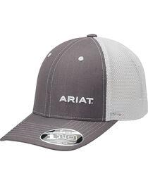 Ariat Men's Grey Pinstripe Pattern Baseball Cap , , hi-res