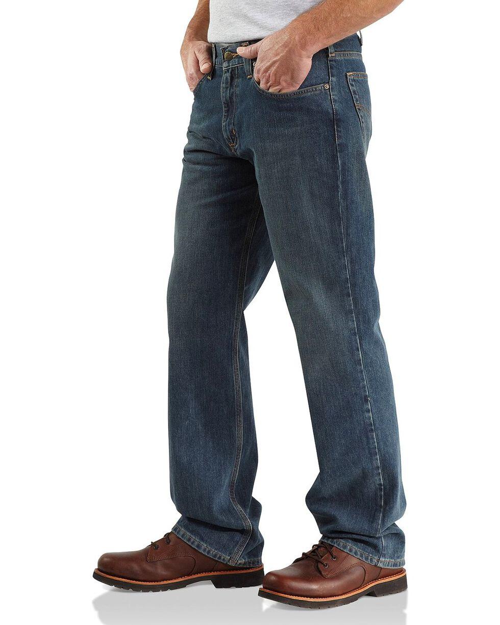Carhartt Men's Relaxed Straight Jeans, Dark Blue, hi-res