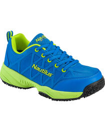 Nautilus Women's Blue and Green Athletic Work Shoes - Composite Toe , , hi-res