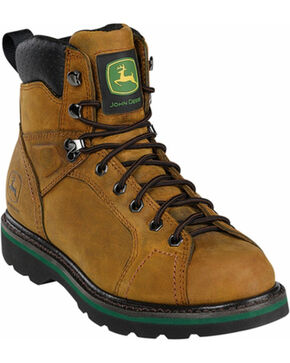 "John Deere® Men's 6"" Work Boots, Crazyhorse, hi-res"