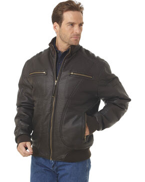 Cripple Creek Zip-front PVC Polyfill Jacket, Fudge, hi-res