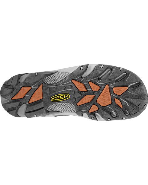 Keen Men's Detroit Low Steel Toe Shoes, Dark Grey, hi-res