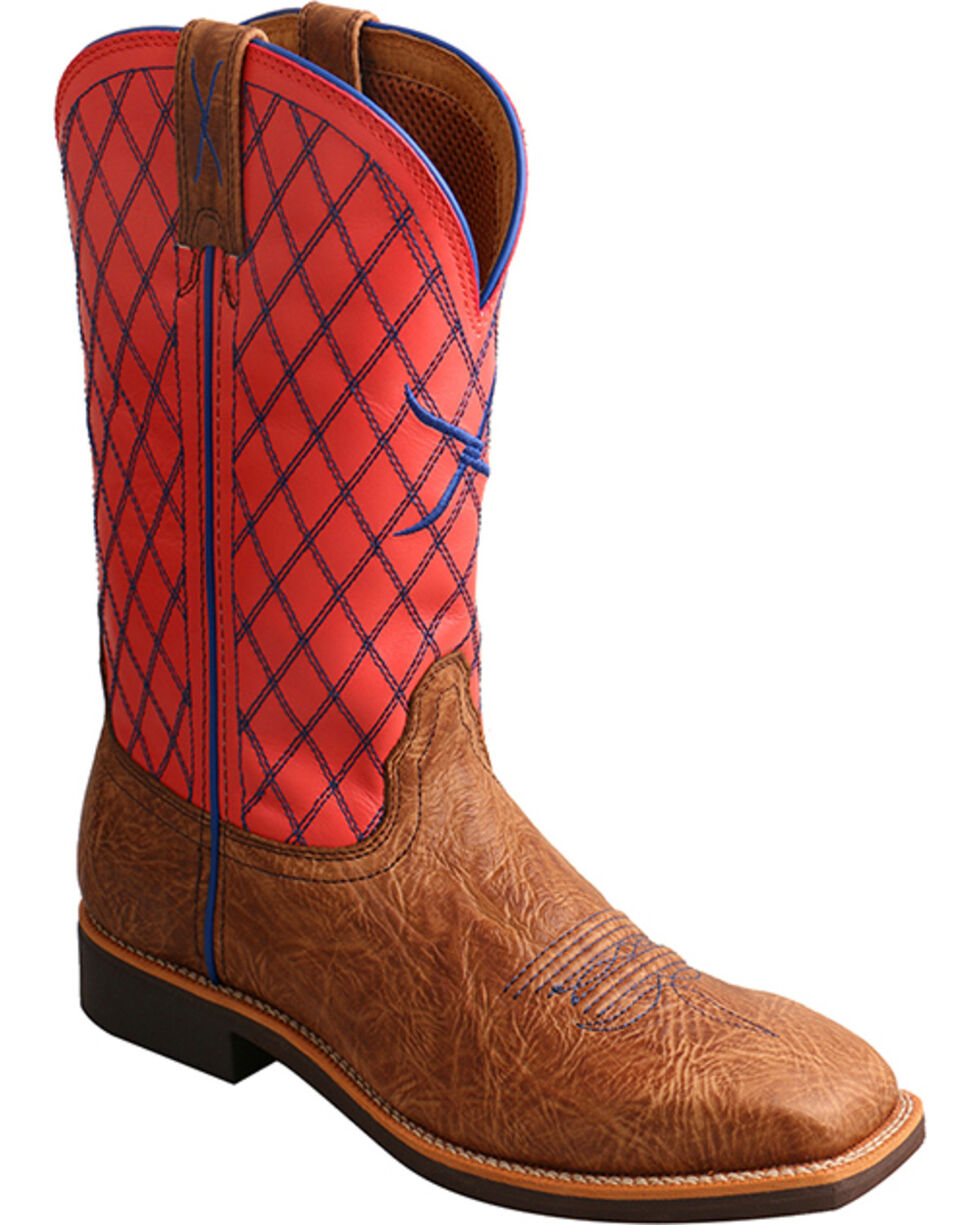 Twisted X Women's Top Hand Quilted Western Boots, Brown, hi-res