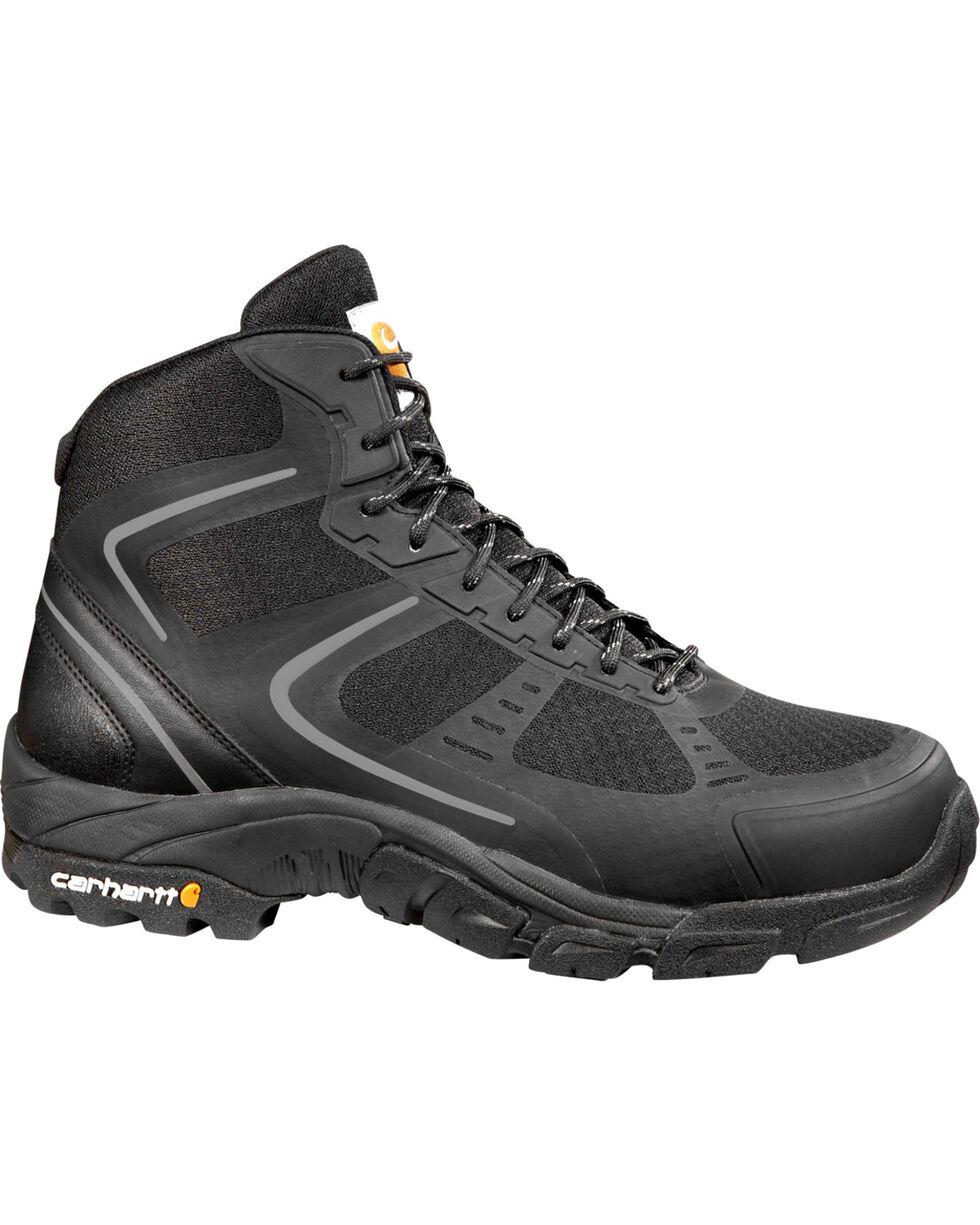 Carhartt Men's Black Lightweight Work Hiker Boots - Steel Toe, Black, hi-res